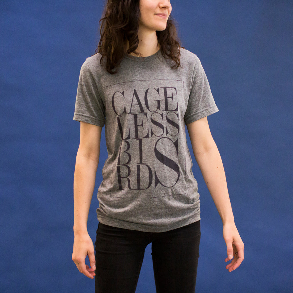 The Classic Grey Cageless Birds Tee
