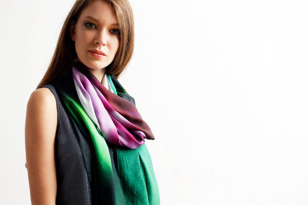 Cashmere Silk Scarf - Sigh sets by VIDA VIDA GAj5lY2