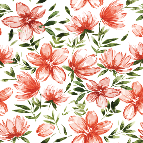 Red Watercolor Flowers
