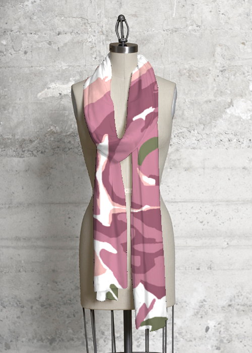 Abstract Rose Scarf