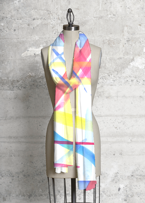 Primary Watercolor Scarf