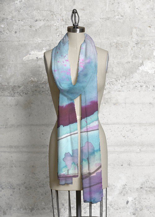 tree cotton scarf