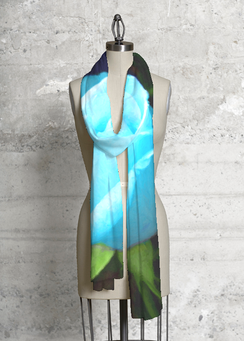 Blue Rose Modal Scarf