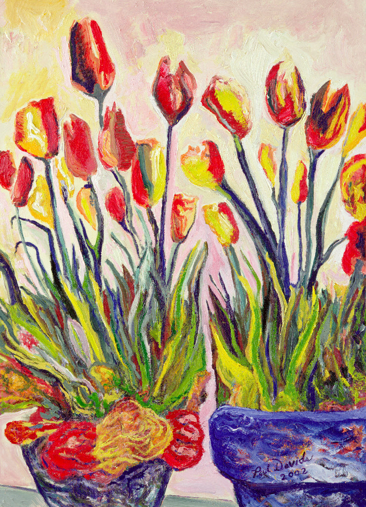 RED & YELLOW TULIPS - 8
