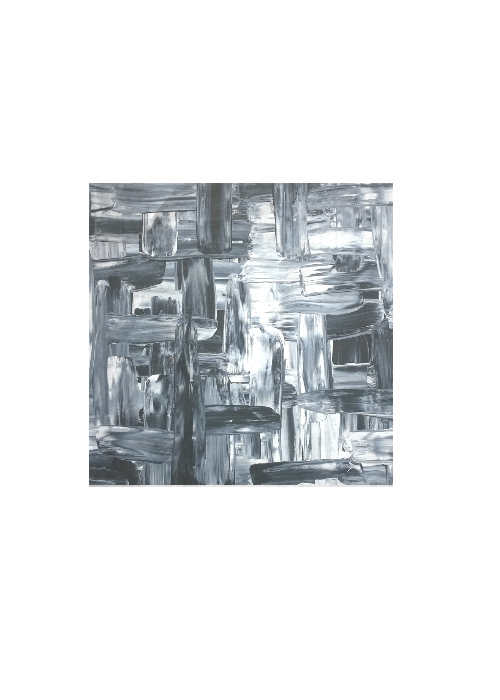 B&W Abstract Square