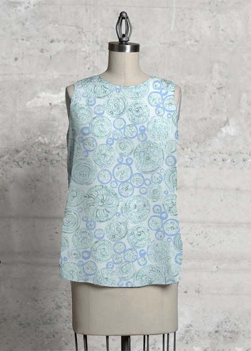 Blue Spirals top