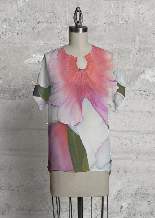 Pink Orchid tee