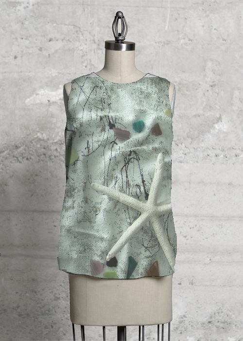 starfish and seaglass tee