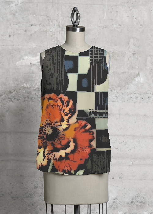 Acoustic Poppy Sleeveless
