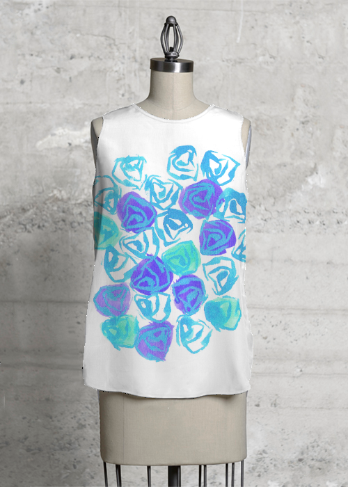 Abstract Rose Blue