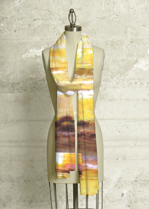 Golden Reflections scarf