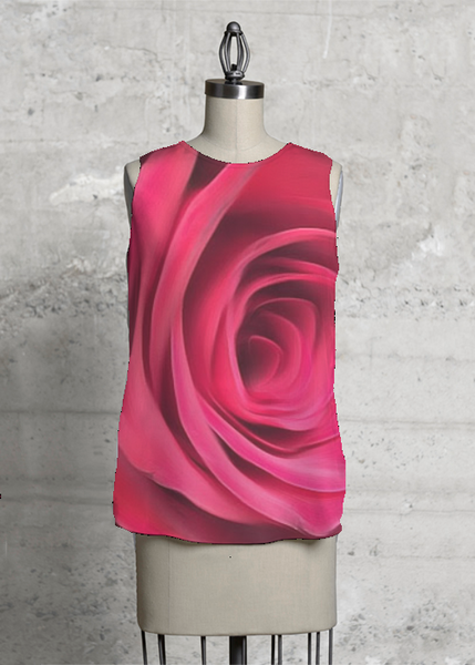 Red Rose Sleeveless Top