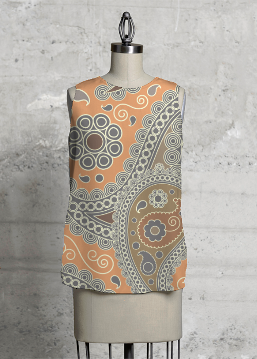 Paisley Sleeveless Top