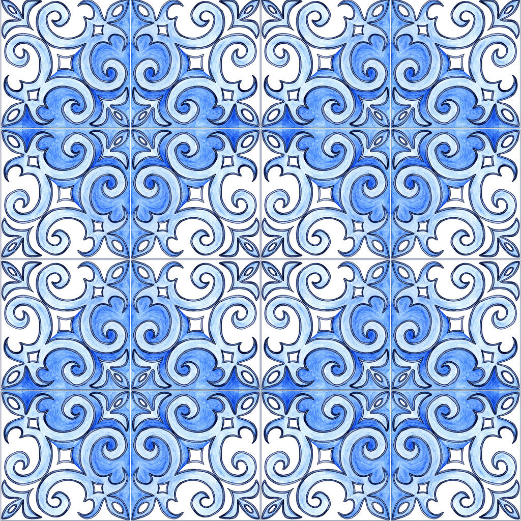 The Swirl Azulejo