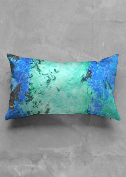 Product View - Accent Pillow - Luster Oblong titled Azurite World Pillow