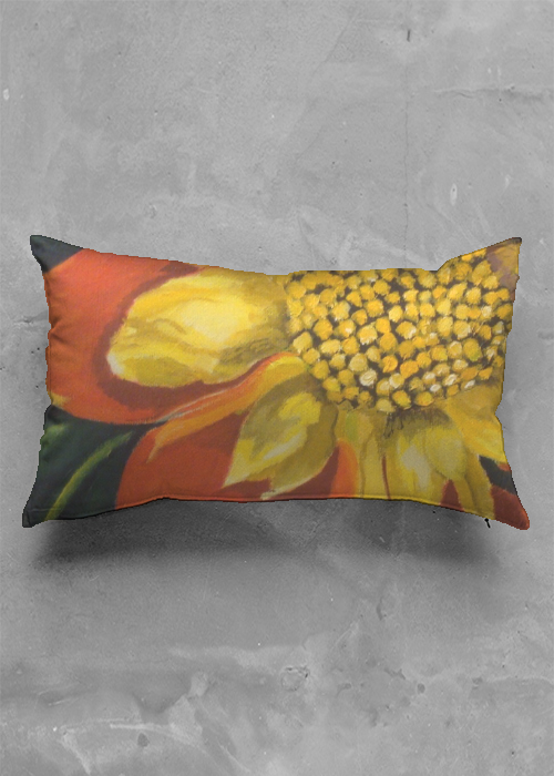 dahlia oblong pillow