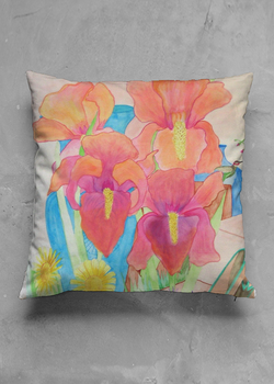 Product View - Accent Pillow - Matte Square titled More Than Irises