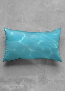 Product View - Accent Pillow - Luster Oblong titled Aqua Reflection