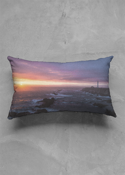 Product View - Accent Pillow - Matte Oblong titled Point Arena Sunscape
