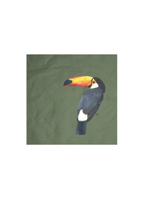 Mens Cotton Pocket Square - bird by VIDA VIDA