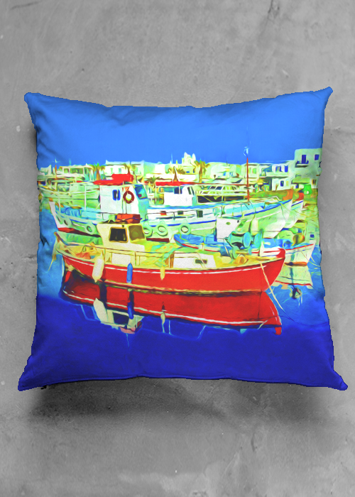 Greek Harbor (Pillow)