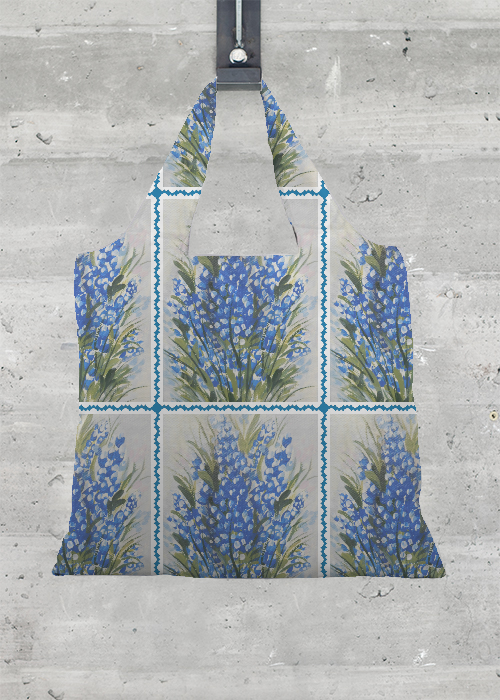 VIDA Tote Bag - Texas, Bluebonnets by VIDA