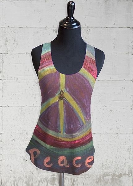 Printed Racerback Top