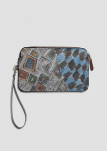 VIDA Leather Statement Clutch - LITTLE VENICE - MYKONOS by VIDA