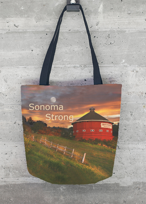 Clearance Footaction Tote Bag - Sonoma Round Barn by VIDA VIDA Cheap Release Dates Cheap Sale Countdown Package Free Shipping Cheap Online Pictures Sale Online STO3c