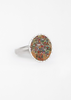 Product View - Round Statement Ring titled BOUQUET OF JEWELS