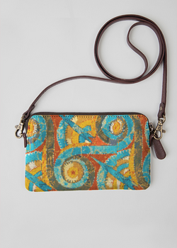 VIDA Statement Clutch - Sun and Moon Abstract Art by VIDA