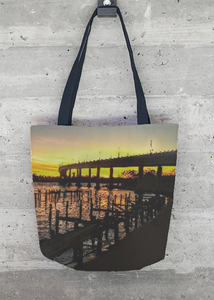 Tote Bag - Sunset on the Severn by VIDA VIDA XRD83v3RA