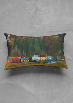 Product View - Accent Pillow - Matte Oblong titled Iceland