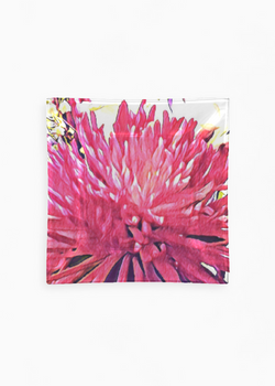 Product View - Square Glass Tray titled Abstract Pink Spider 6