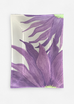 Product View - Oblong Glass Tray titled Purple Aster Fun 4