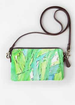 VIDA Leather Statement Clutch - Beautiful Wood by VIDA