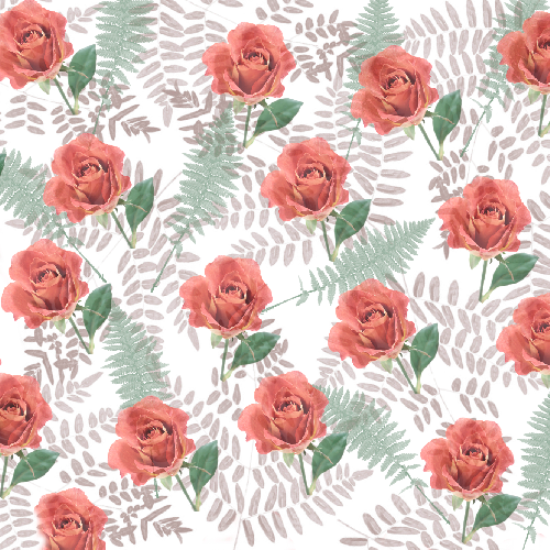 Roses and fern