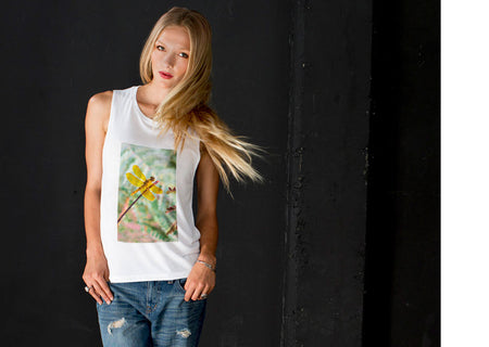 Sleeveless Knit Top - Glowing Knit Tee by VIDA VIDA Cheap Browse Free Shipping Factory Outlet New Outlet For Cheap Largest Supplier TlXp1rZ