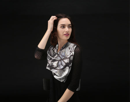 Silk Square Scarf - Chill by VIDA VIDA PGVcAtl