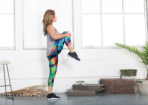 Product View - Yoga Capri Pants titled Far and Away