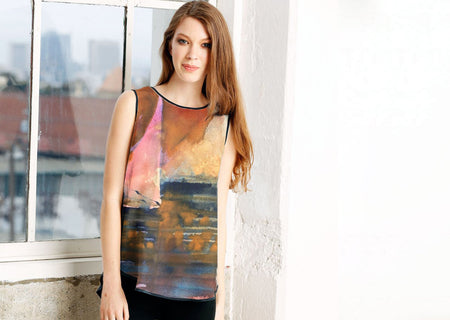 Printed Racerback Top - The Shay by VIDA VIDA Clearance Official Site OBdHXopA