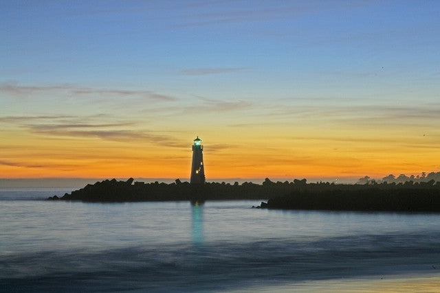 Santa Cruz Light House sunset