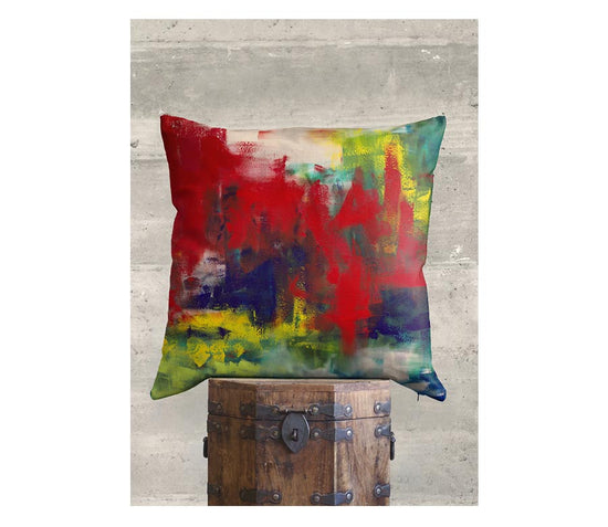 Product View - Accent Pillow - Luster Square titled NY Lunch Break ca85186e21