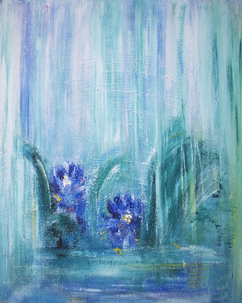 Blue Flowers by Sara Martin