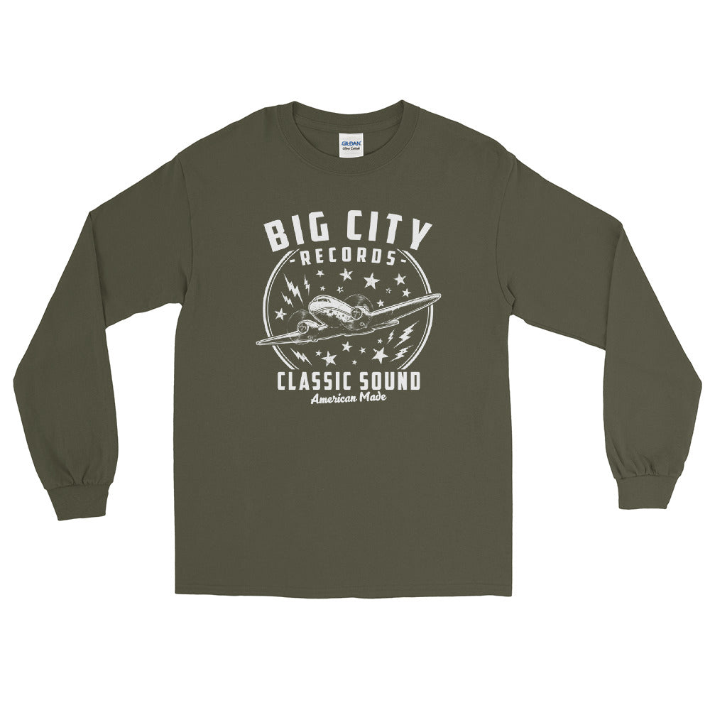 Big City Records Men's Long Sleeve Shirt
