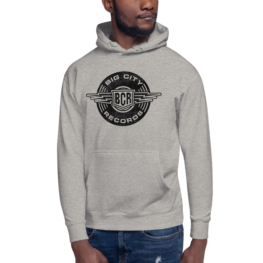 Big City Records Distressed Unisex Hoodie
