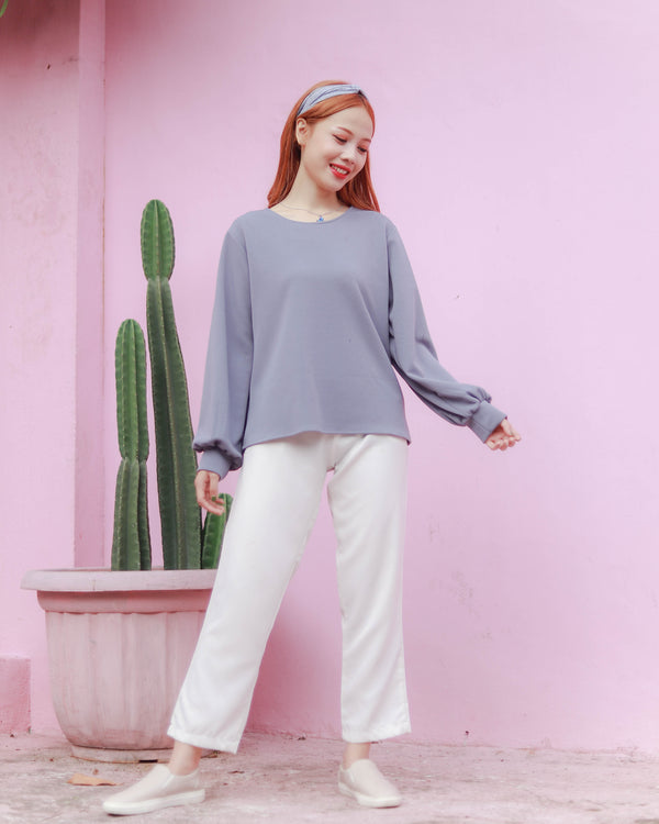 Olivia Korean Sweater Denim