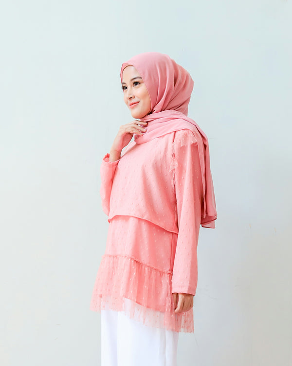 Scarlet Blouse Salmon Rose