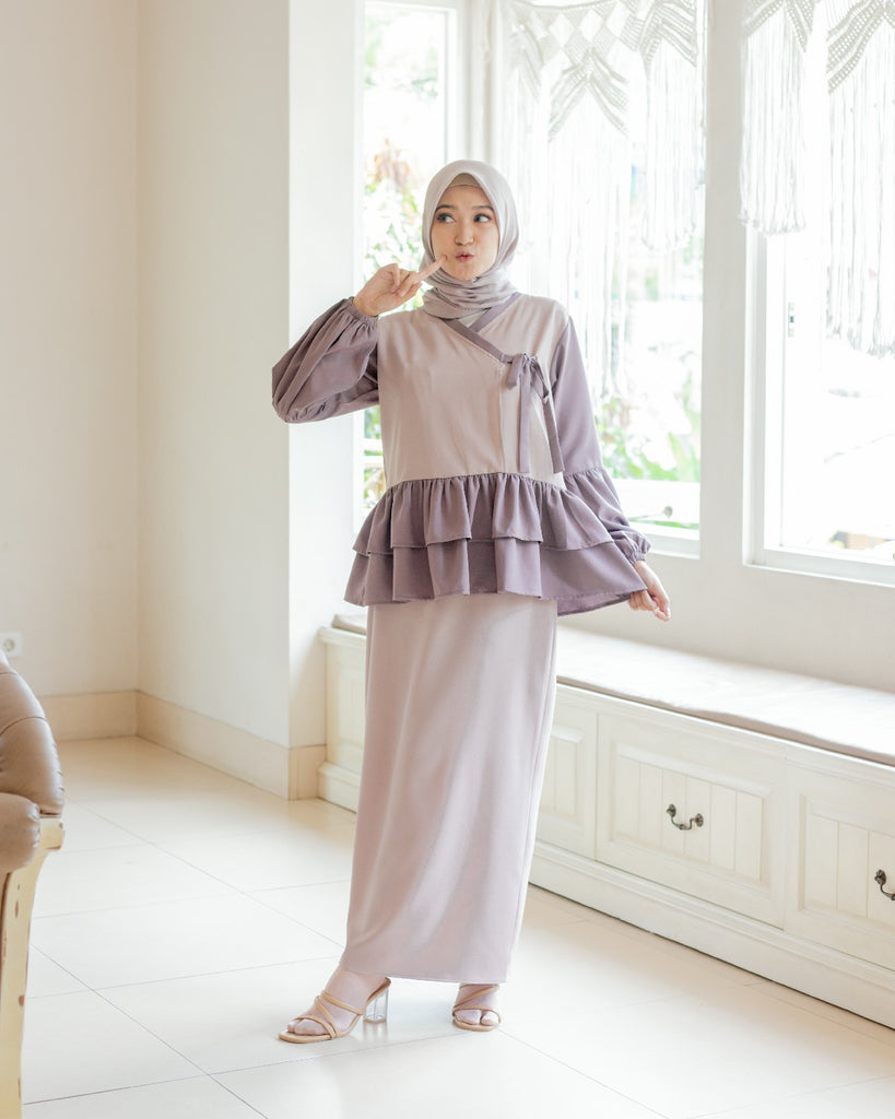 Hanbok Se-Ri 세리 With Skirt 2 in 1 Lilac Breeze
