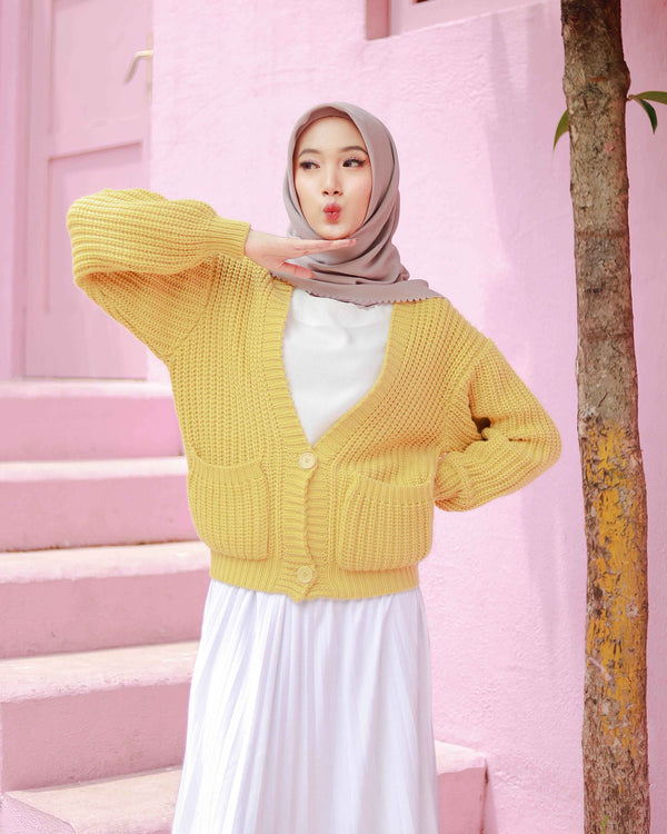 Noona Crop Cardigan Lemonade